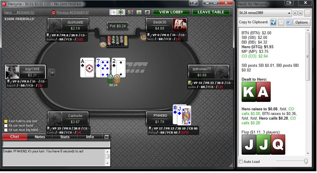 Bruk av HUD i poker
